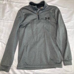 Under Armour 1/4 Zip Gray Sweatshirt Size Small